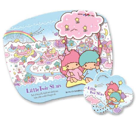 【唯愛日本】13121700036 高彈性子母型滑鼠墊-TS星星 三麗鷗 Kitty 凱蒂貓 電腦週邊用品