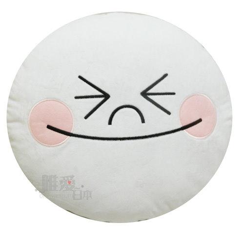 【唯愛日本】14012700008 頭型抱枕饅頭人瞇眼笑 LINE公仔 饅頭人 兔子 熊大 靠枕 午安枕