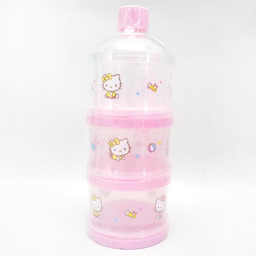 【真愛日本】14032900003 三層保潔蓋奶粉盒 三麗鷗 Hello Kitty 凱蒂貓 奶瓶罐 正品