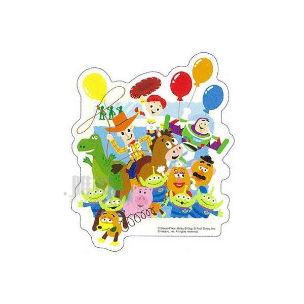 【唯愛日本】14051000025 防水貼紙-玩具全人物 迪士尼 玩具總動員 車用貼紙 壁紙 透明貼紙