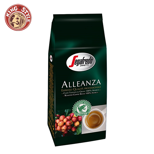 【Segafredo】 Aleanza 28X 雨林聯盟認證咖啡豆 義式濃縮咖啡豆 1kg(2.2磅) /包