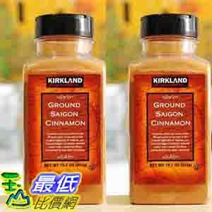 [COSCO代購 如果沒搶到鄭重道歉] Kirkland Signature 科克蘭 肉桂粉 303公克 (2入裝) W617698
