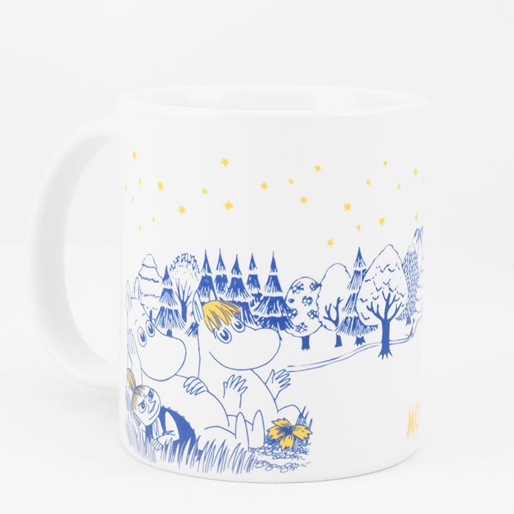 Moomin嚕嚕米授權 - 馬克杯 / 牛奶杯:【 仲夏之夜 】