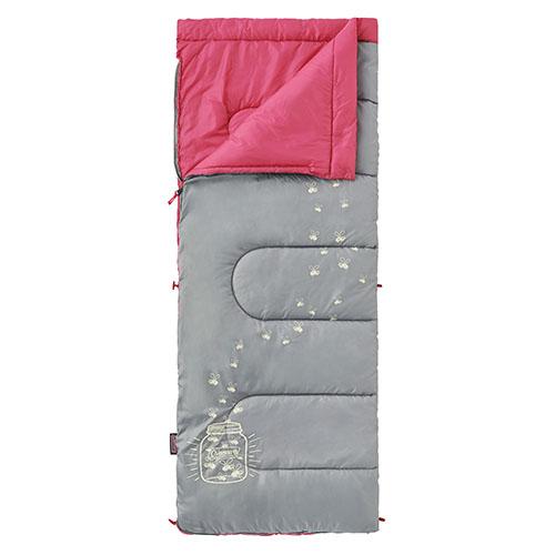 【露營趣】中和 Coleman 夜光型桃紅兒童睡袋/C7 纖維睡袋 中空纖維中空纖維 全開信封式CM-22263