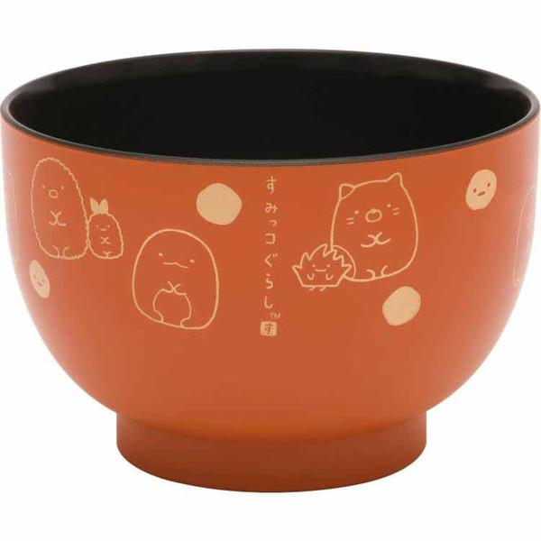 【真愛日本】16030800008 漆器湯碗-角落金點橘 角落公仔 漆器 餐碗 餐具 日本製