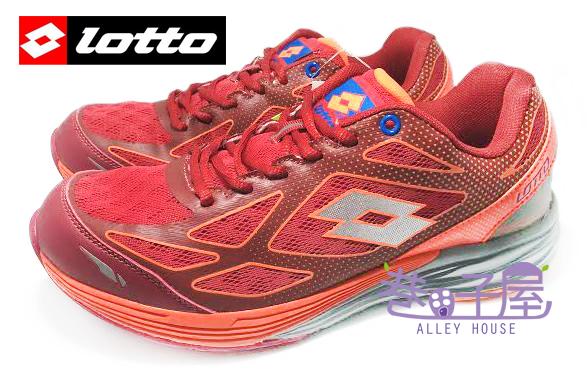 【巷子屋】義大利第一品牌-LOTTO樂得 VCLOCI 男款雙密度避震運動慢跑鞋 [2672] 珊瑚紅 超值價$690