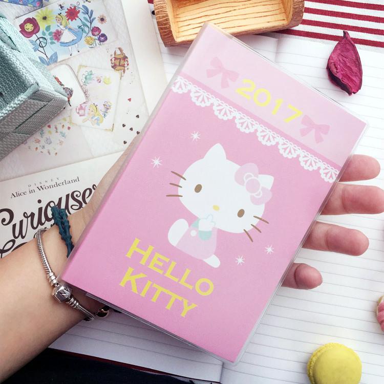 PGS7 (現貨+預購) 三麗鷗系列商品 - Hello Kitty 2017 口袋日誌 (A6) 筆記本 記事本 行事曆 手帳本 凱蒂貓