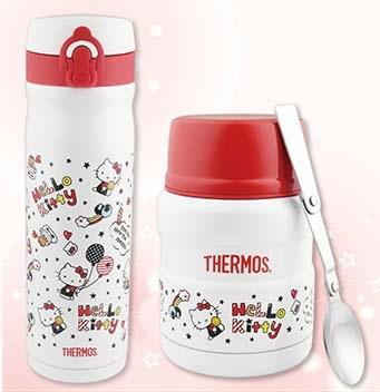 膳魔師Hello Kitty悶燒罐0.47L+保溫杯0.5L快樂篇二入組-大廚師百貨