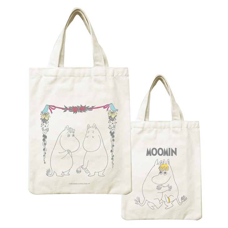 Moomin嚕嚕米正版授權 - 帆布包:【 愛慕 】