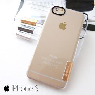 Baseus 倍思 iPhone6 4.7吋 太空殼 金屬標 透明硬殼 手機套 Apple 【A609248】