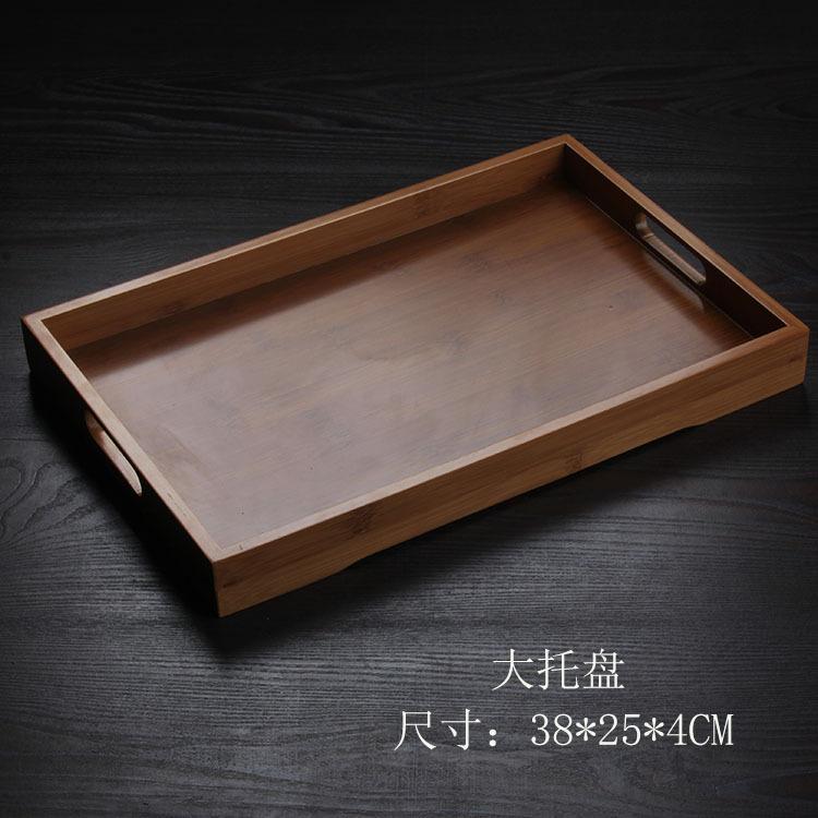 手工製造孟宗竹制托盤 適用歐式花茶壺托盤 日式和風茶到茶盤竹托盤