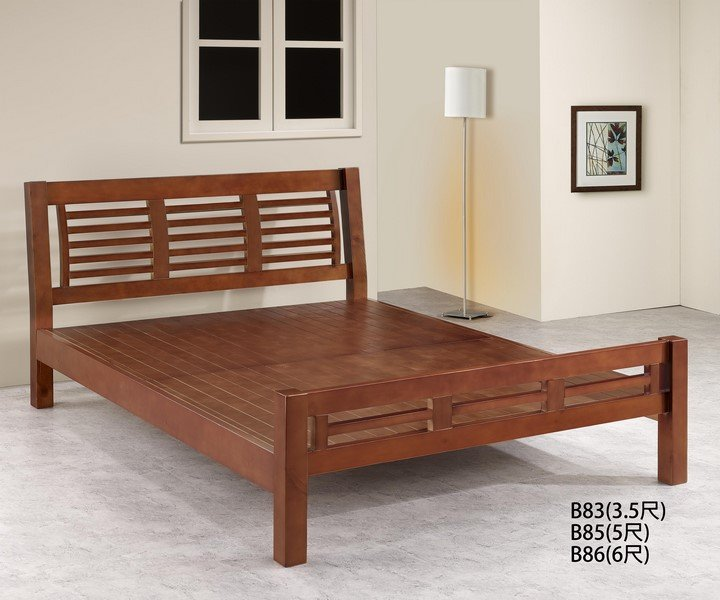 【石川家居】GH-B86 百葉樟木色 6尺實木床架 (不含其他商品) 需搭配車趟費