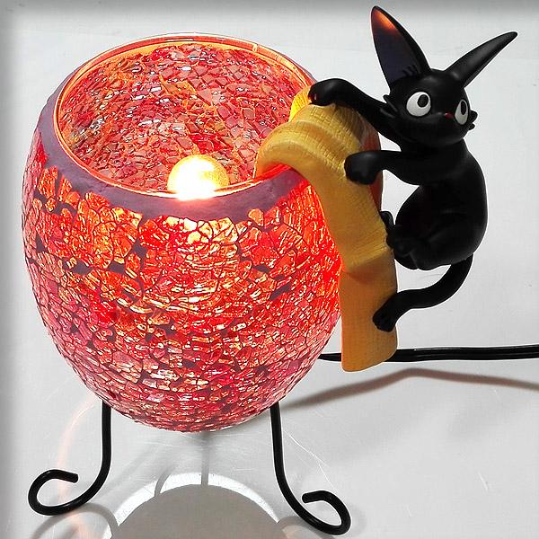【真愛日本】16100500038琉璃小夜燈-jiji杯緣子  魔女宅急便 黑貓 奇奇貓 擺飾 飾品 正品 限量 預購