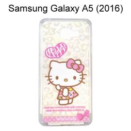 Hello Kitty 透明軟殼 [豹紋] Samsung A510Y Galaxy A5 (2016)【三麗鷗正版授權】