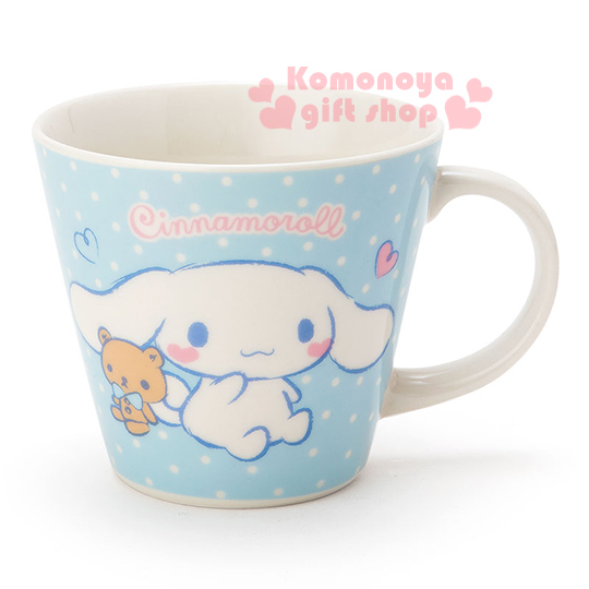 〔小禮堂〕大耳狗 陶瓷馬克杯《藍.多動作.小熊.愛心.點點.310ml》