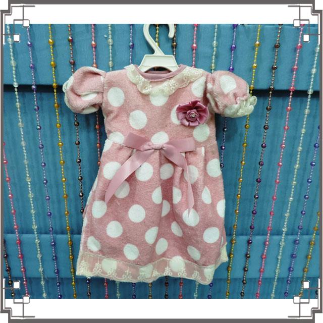 ↙特價↘小洋裝擦手巾《Q4-1》粉紫色點點洋裝造型擦手巾 小圓點擦手巾 含衣架◤彩虹森林◥