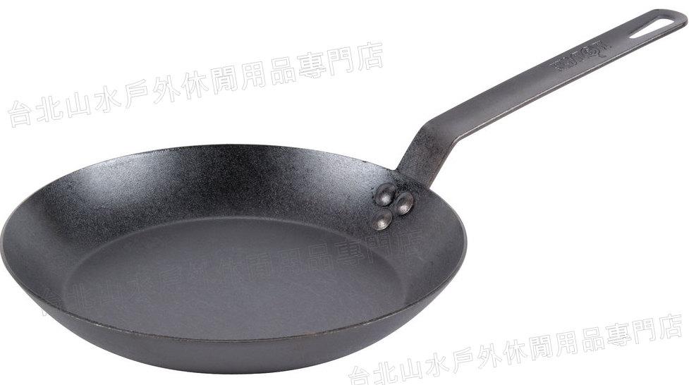 Lodge/12吋碳鋼煎鍋/平底鍋/鐵鍋 美國製 CRS12/台北山水