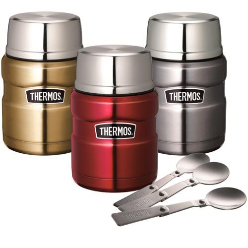THERMOS膳魔師 PA-3000 不銹鋼真空食物燜燒罐 470ml 三色 送餐具組