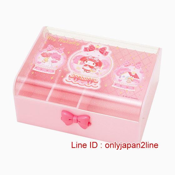 【真愛日本】4901610425275 飾品收納盒-MM 三麗鷗家族 Melody 美樂蒂 飾品盒 收納盒 文具