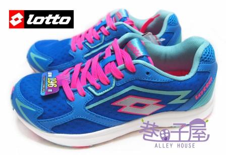【巷子屋】義大利第一品牌-LOTTO樂得 RUNNING女款疾風路跑鞋 196g [2236] 藍 超值價$590
