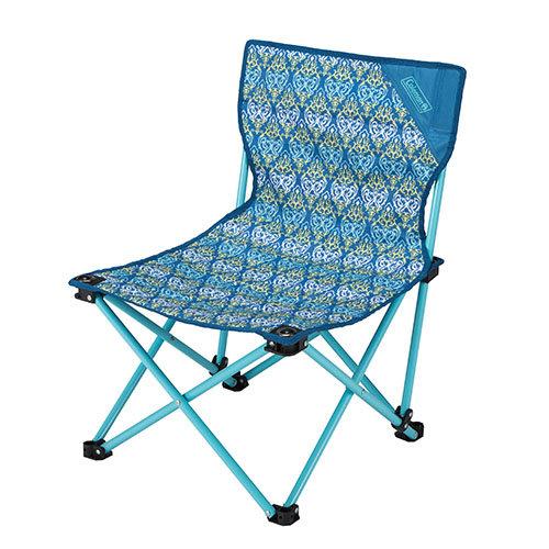 【露營趣】中和 美國 Coleman 藍葉圖騰樂趣椅 折疊椅 休閒椅 釣魚椅 童軍椅 CM-22004