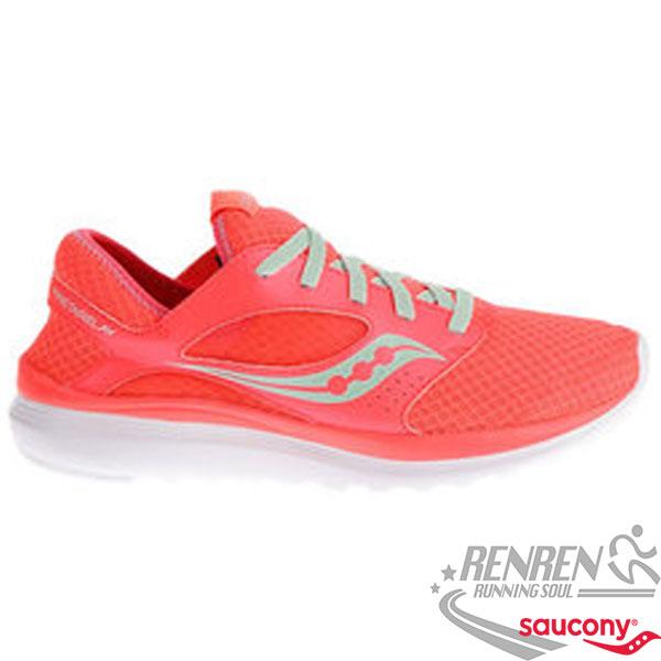 SAUCONY KINETA 女慢跑鞋 (珊瑚橘) 避震 輕量.透氣