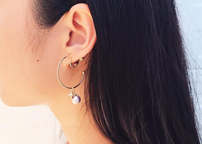 韓國飾品,c圈造型耳環,夾式耳環