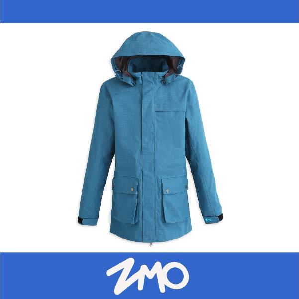 萬特戶外運動 ZMO JG361-MB 男防風雨風衣外套-長版大衣 防水 防風 藍色