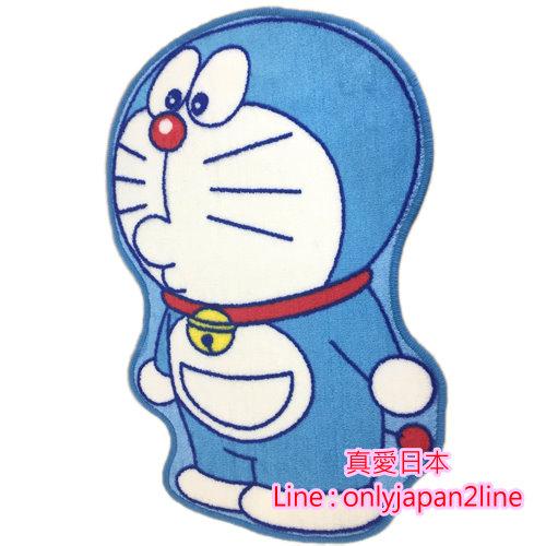 【真愛日本】16092300009 造型止滑地墊-側站俏皮嘟嘴  Doraemon 哆啦A夢 小叮噹 腳踏墊 寢具用品