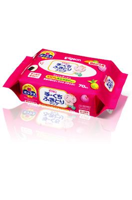 日本【Pigeon 貝親】手口柔濕巾補充包 (70入/包)