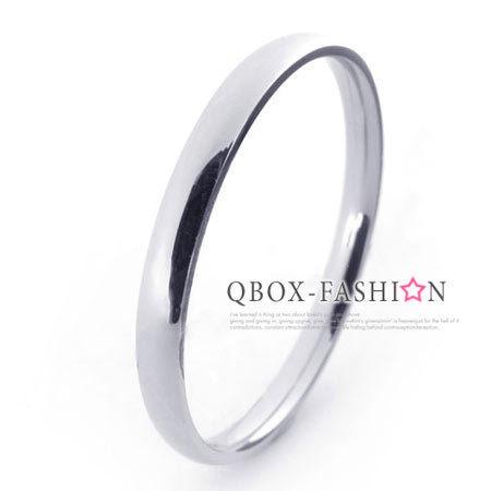 《 QBOX 》FASHION 飾品【W10021272】精緻個性細版銀色光面316L鈦鋼戒指/戒環(0.2cm)