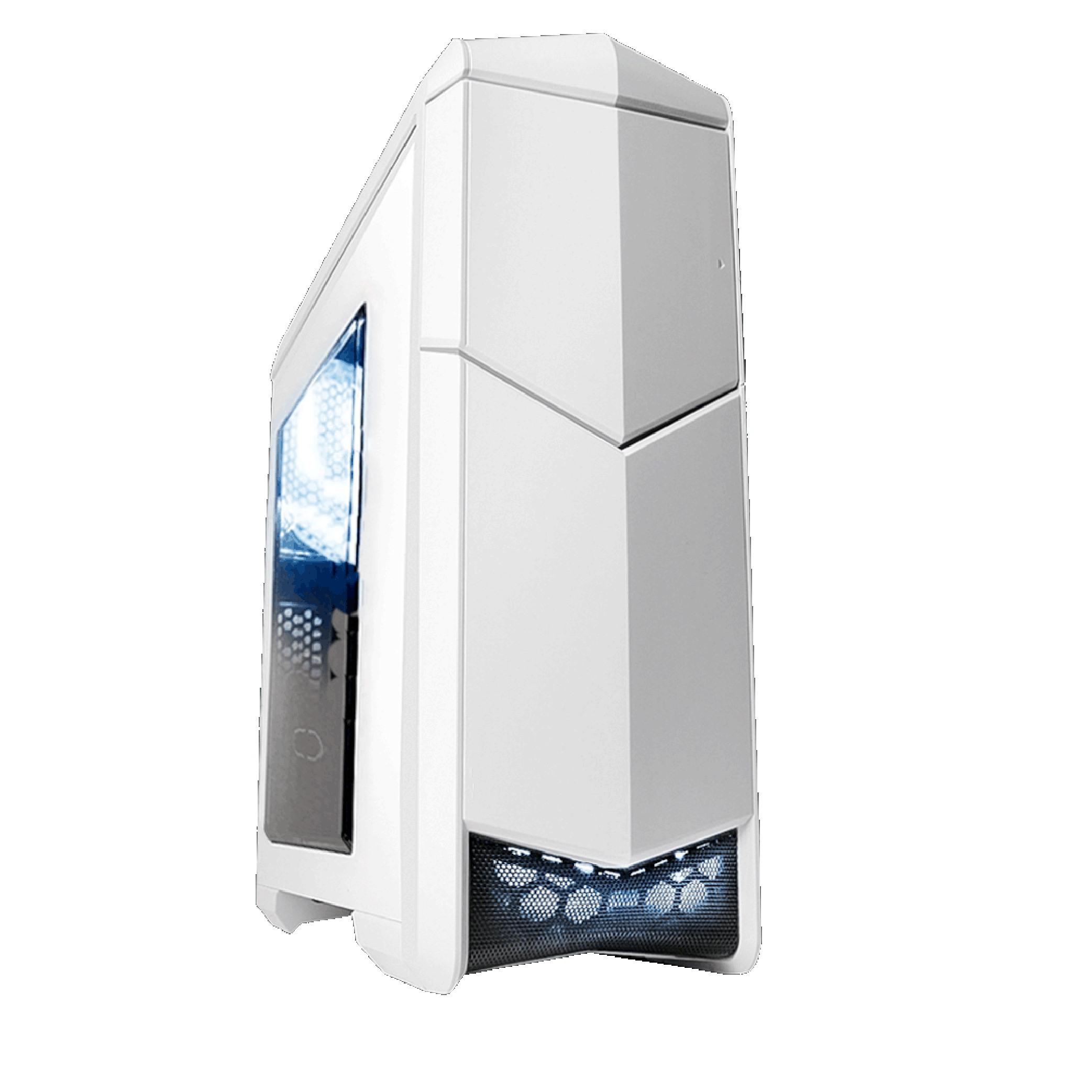 【迪特軍3C】立光代理 SADES 賽德斯 巴風特 L 大巴 2大8小 機殼 透側 白色 適用 ATX M-ATX ITX