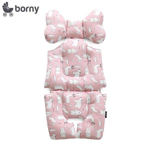韓國【Borny】全身包覆墊(推車、汽座、搖椅適用) (粉熊鹿)