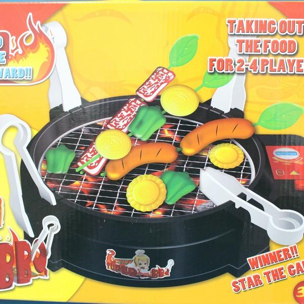 電動烤肉組 BBQ競技 烤肉遊戲組 FDE905 烤肉玩具 扮家家酒烤肉爐(附電池)/一盒入{促400}仿真烤肉玩具 智遊戲燒烤~CF101638