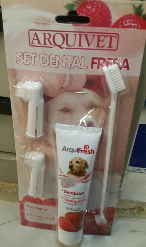 西班牙 ArquiFresh 寵物牙膏(草莓)/預防牙結石 /口氣清新