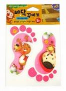 地板防滑貼片(5入)小紅帽 德德 韓國 浴室 螢光 防滑貼片 防滑片 止滑帶 非3M 保護 老人 小孩 孕婦 安全