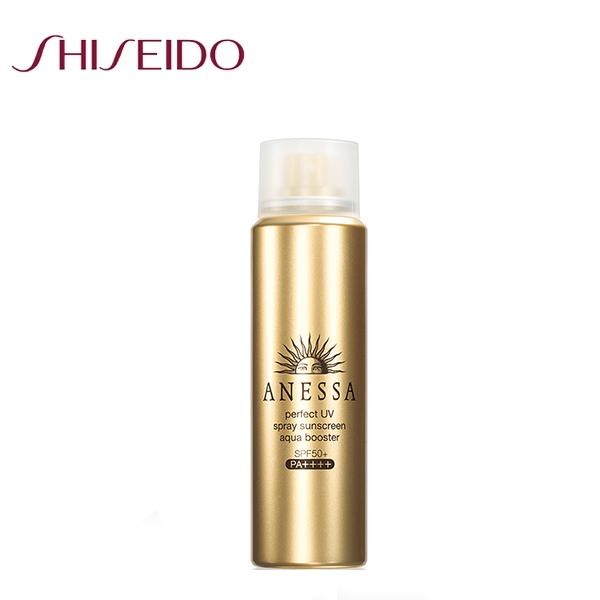 SHISEIDO資生堂 ANESSA 安耐曬 金鑽高效防曬噴霧SPF50+ 60g再送試用包2入