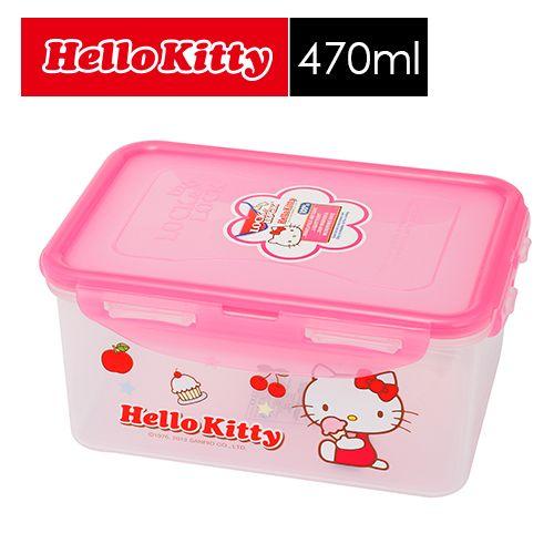 【SHOPPINESS】樂扣樂扣 HELLO KITTY PP保鮮盒 470ml=>LOCK&LOCK LocknLock