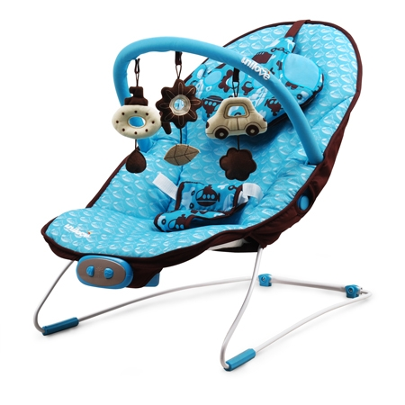 ★衛立兒生活館★英國 unilove 寶寶安撫椅 - Hoze(寶寶搖搖椅、躺椅)(藍色Glu Glu)