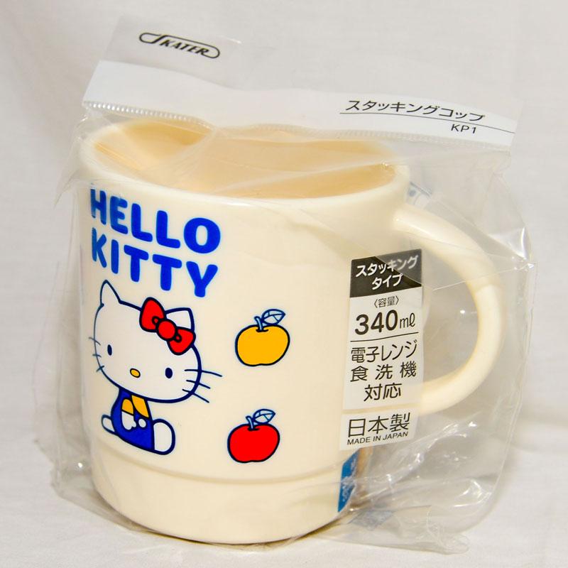 Hello Kitty 復古 馬克杯 水杯 可微波加熱 340ml 日本製造