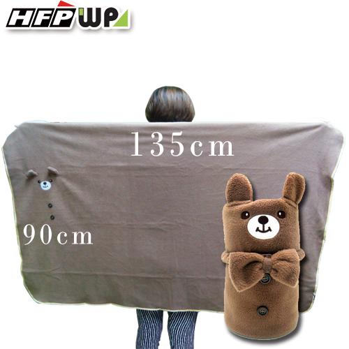 399元超大件>小熊刷毛暖暖被毯 捲毯 BE01