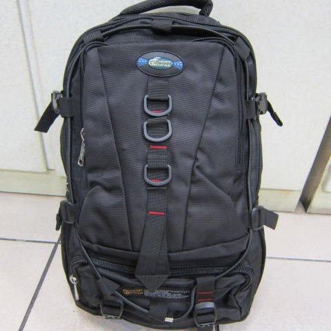 ~雪黛屋~CHERRY 後背包 防水尼龍布多袋口萬用後背包 可放A4資料夾 可放13-17吋電腦XT6614110黑