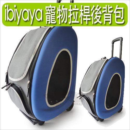 《IBIYAYA依比呀呀》五彩繽紛寵物拉桿後背包FC1008-寶藍色