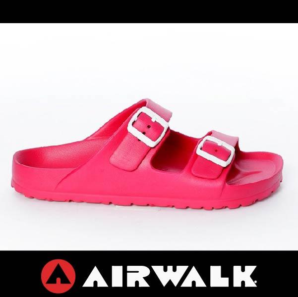 萬特戶外運動-AIRWALK A535220142 美國運動流行 台灣製造 雙扣環拖鞋 EVA 運動拖鞋 勃肯鞋款BIRKENSTOCK 桃紅色