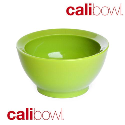 【淘氣寶寶】【美國 CaliBowl】專利防漏防滑幼兒學習碗(單入無蓋) 8oz -綠色【保證原廠公司貨】