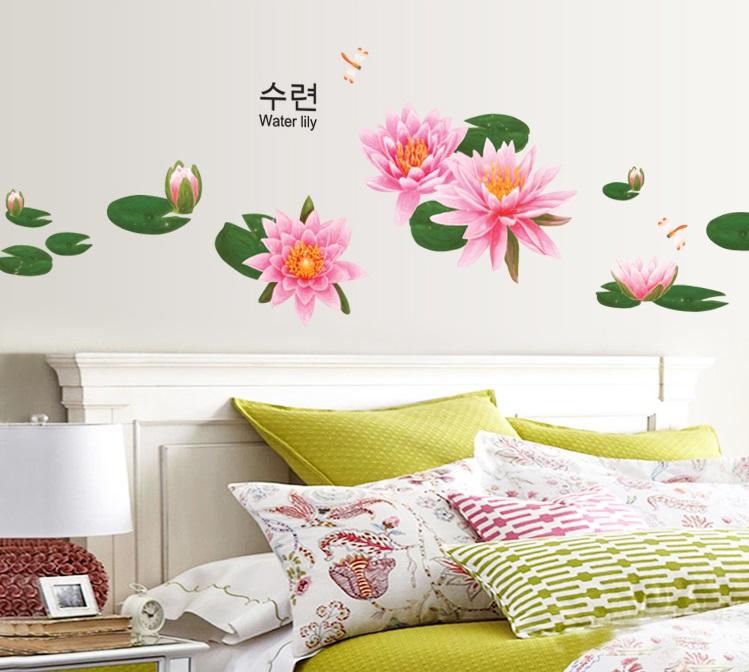 【壁貼王國】 園藝系列無痕壁貼 《蓮花 - AY999》