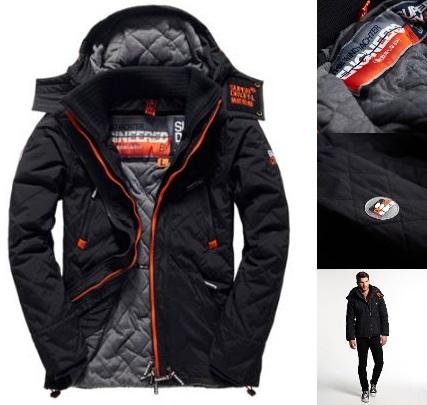 【男款】極度乾燥 Superdry Arctic Wind Yachter遊艇夾克 縫線進階款 風衣 外套 深黑 橘色