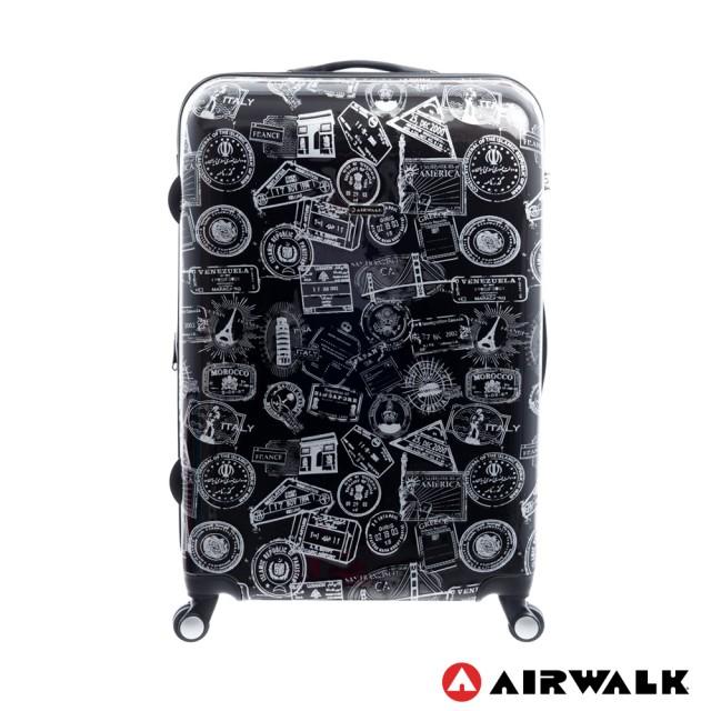【騷包館】【AIRWALK】28吋 精彩歷程 環郵世界旅行行李箱 黑 AW-0201-28-BK