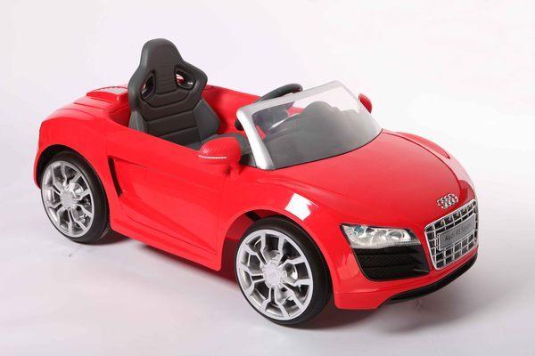 【兒童電動車】AUDI 奧迪 R8 電動車-紅色 W458Q-A03 (可遙控)