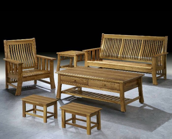 【 尚品傢俱】 439-13 簡約 現代柚木組椅(1+2+3+大小茶几)家庭沙發/客廳沙發/會客沙發/多件沙發
